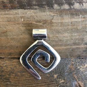 Silpada Sterling Silver Geometric Maze Pendant
